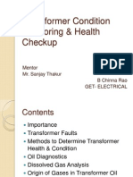 Transformer Health & Condition Monitoring