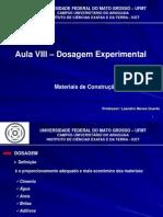 Aula VIII - Dosagem Experimental