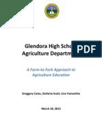 aed 100 glendora high school agriculture department - greggory stefanie lina