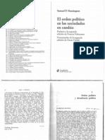 El Orden Político en las Sociedades en Cambio (Samuel Huntington