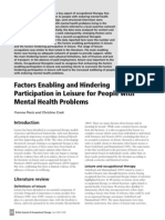 Factors Enabling and Hindering