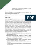 CODIGO DE ÉTICA COLEG. PSI. DE CÓRDOBA