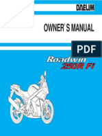Daelim VJF250 Owners Manual