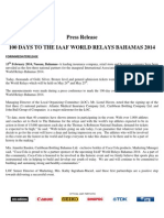 100 Days- IAAF World Relays Bahamas 2014