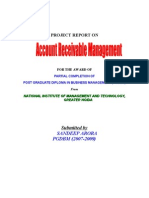 Report on Account Receviable Mgt by Sandeep Arora