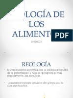 REOLOGÍA DE LOS ALIMENTOS UNIDAD I.ppt