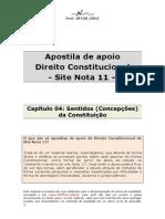 Apostila de Apoio-cap 04-Sentidos Concepcoes Da Constituicao