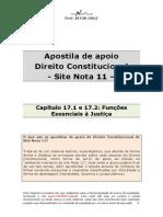 Apostila de Apoio - Cap 17 - Funcoes Essenciais a Justica