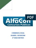Alfacon Cedryc Escrivao de Policia Pc Sp Nocoes de Criminologia Isabel Rossoni 2o Enc 20140130214412