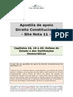 Apostila de Apoio - Cap 18 Ao 20 - Defesa Do Estado e Instituicoes Democraticas