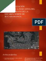 CARACTERIZACIÓN GEOTÉCNIVA INDICATIVA DEL DESLIZAMIENTO DE LA ESCARPA