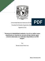 Aumento de Traajabilidad en Concretos de Baja Relacion Ac.