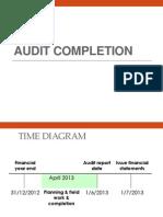 8 Audit Completion
