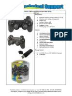 Wireless USB Dual Shock Gamepad