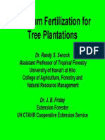 Fertilization of Tree Plantations