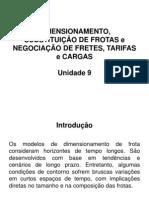 Unidade 9 Dimensionamento e substituição de frotas