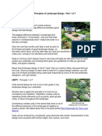 8 Basic Principles of Landscape Design