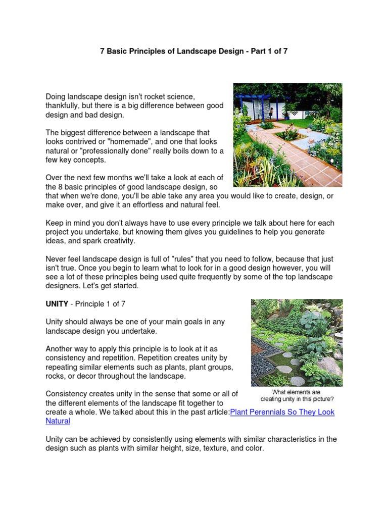 8 Basic Principles Of Landscape Design Symmetry Gardens