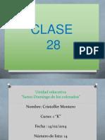 clase 28 cristoffer