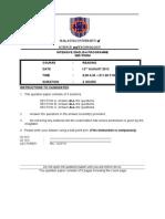 Mid -Term Question Paper