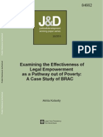 Examining the Effectiveness of  Legal Empowerment  as a Pathway out of Poverty: A Case Study of BRAC