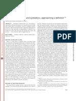 Probiotics, Prebiotics, And Synbiotics—approaching a Definition1–3