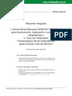 Resumen integrado de la NOM-037-SSA2-2012 y Guía de Tratamiento Farmacológico de las Dislipidemias