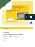 La Influencia de las Mezclas Asfálticas en la Seguridad Vial Experiencia Colombiana