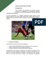 Lesiones más Comunes en el Futbol