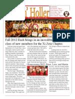 Chi Omega Newsletter