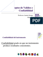 Cap .10 (2) Conceptos de Validez y Confiabilidad