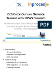 DCS Check-Out and Operator Training With HYSYS