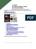 FENDER Vintage Guitars Info