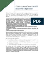 Objetivo del Índice Dow e Índice Mond en la industria del proceso
