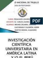 La Investigación Científica en la Universidad Latinoamericana