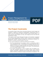 PM4DEV the Project Constraints