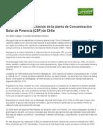 Planta Csp Chile Cerro Dominador