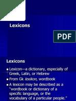 Lexicon s