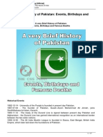 A Very Brief History of Pakistan Events Birthdays and Famous Deaths