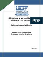 Genesis de La Violencia y Agresividad en Humanos
