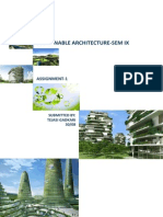 Global Warming,Sustainable Architecture and Architect's Role