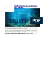 How to Spot Truth in the Sea of Lies