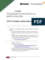 ANEXO PoC de Virtualización de servidores con gestión avanzada - Pruebas