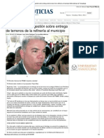 10-02-2014 'Bien encaminada gestión sobre entrega de terrenos de la refinería al municipio'