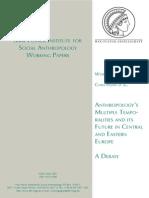 Hann Et Al Anthropology Multiple Temporalities Future Central Eastern Europe a Debate
