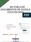 Como Publicar Documentos de Google Docs en Ning