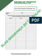 Modelo - Ficha de Registro do Diálogo Diário de Segurança (DDS) - Blog Segurança do Trabalho