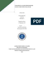 Laporan Praktikum Analitik  Penetapan Anion Fosfat Dalam Air