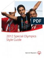 2012 Special Olympics Style Guide