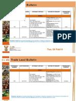 Trade Lead Bulletin 04 FEB 2014